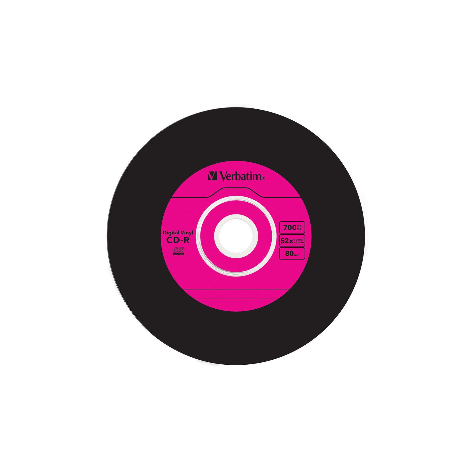 Диск CD Verbatim 700Mb 52x Slim case Vinyl AZO (43426) изображение 7