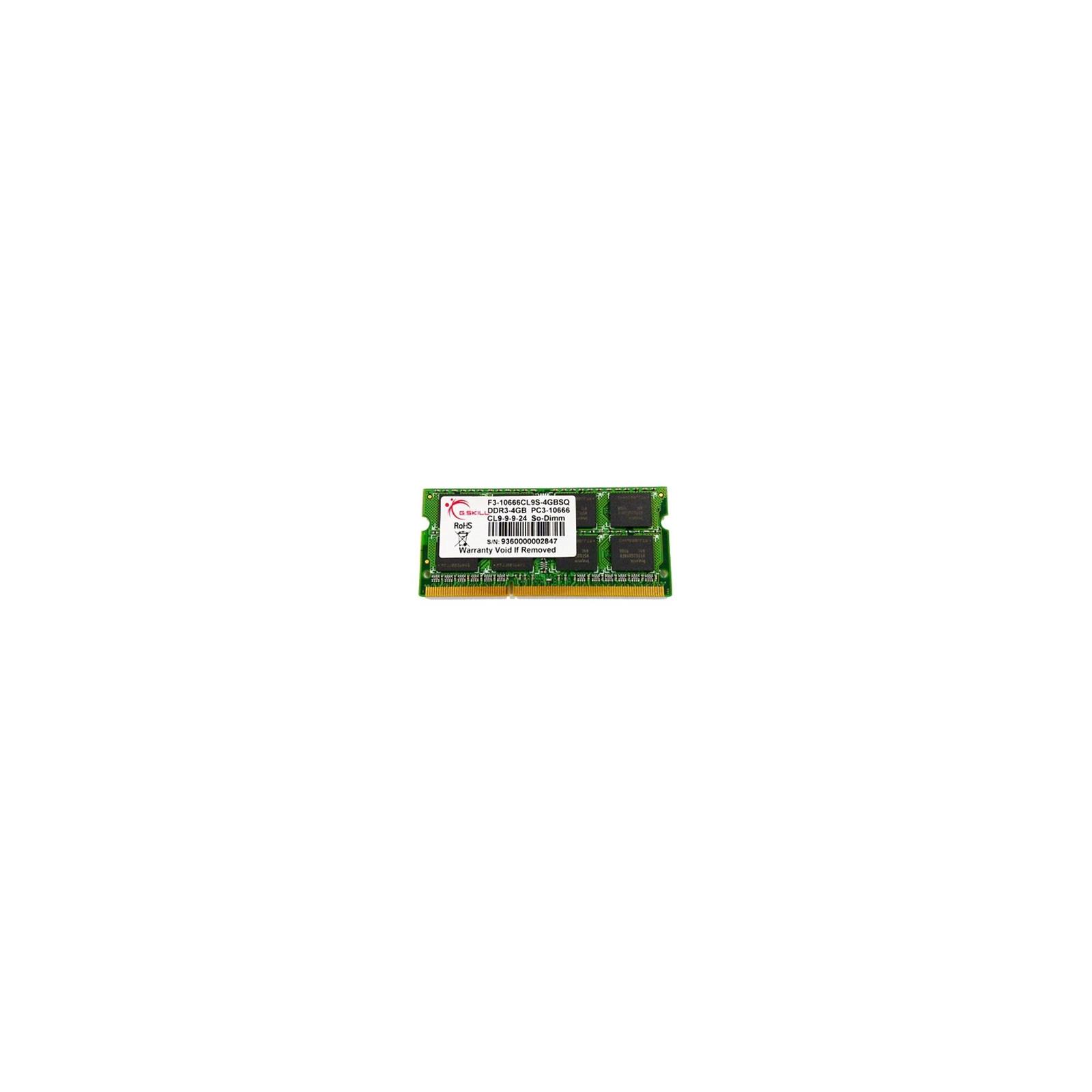 Модуль памяти для ноутбука SoDIMM DDR3 4GB (2x2GB)1333 MHz G.Skill (F3-10666CL9D-4GBSQ)