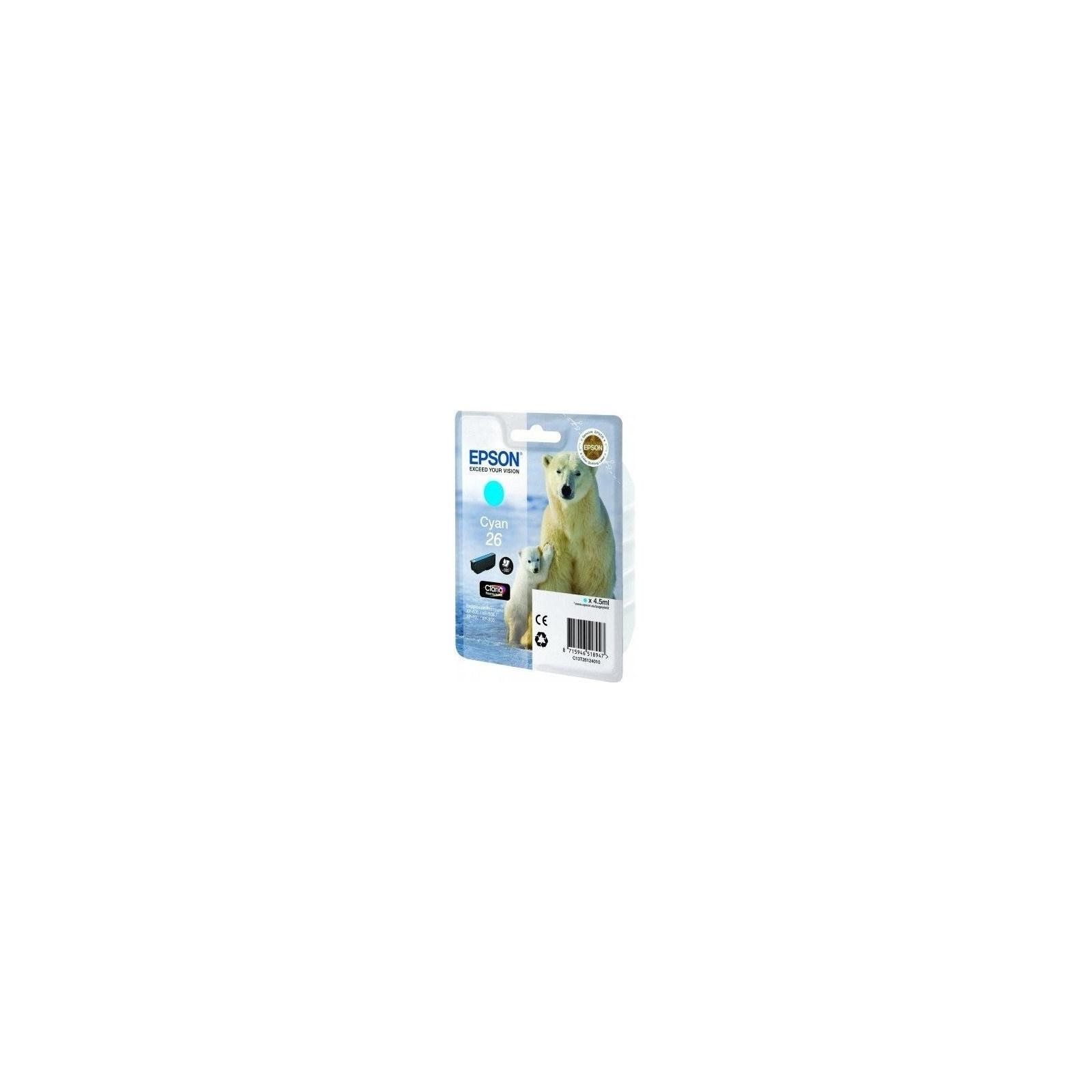 Картридж EPSON 26 XP600/605/700 cyan (C13T26124010)