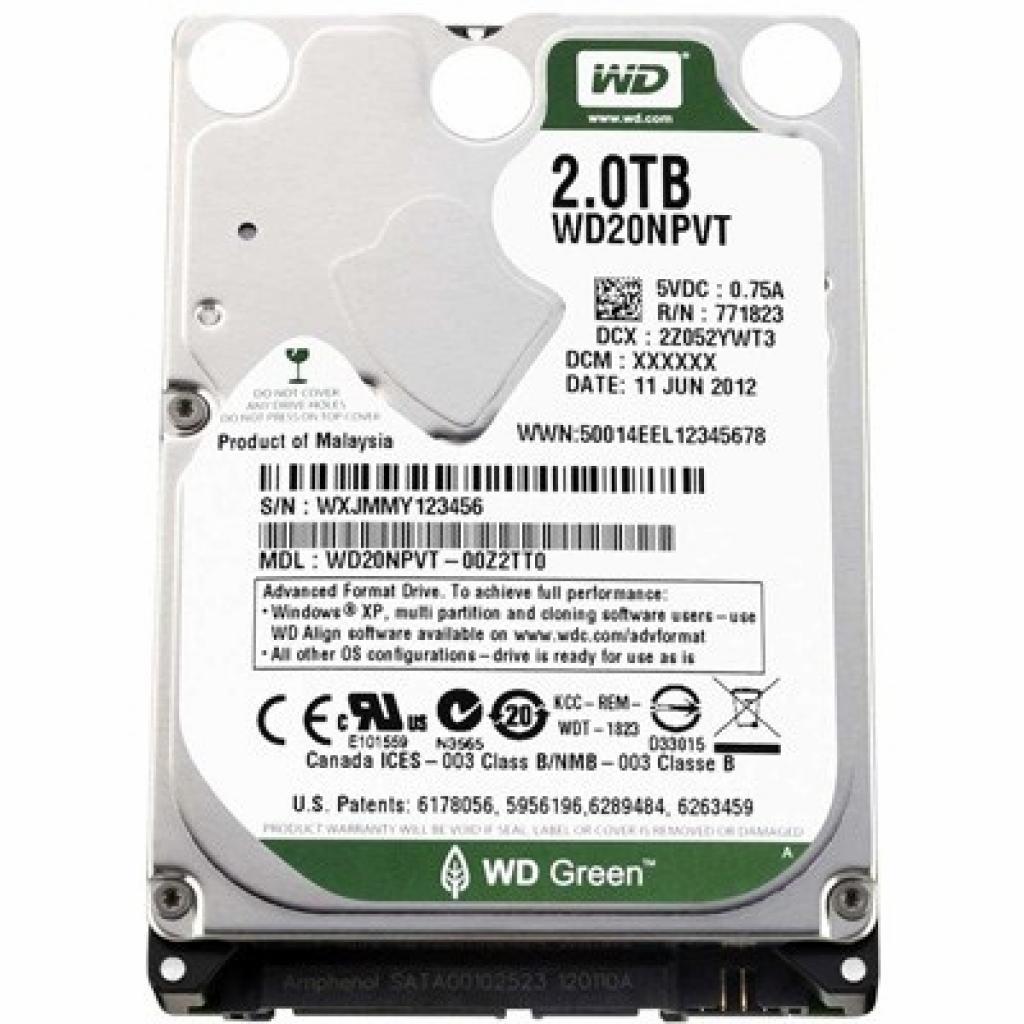 "Жесткий диск для ноутбука 2.5"" 2TB Western Digital (WD20NPVX)"