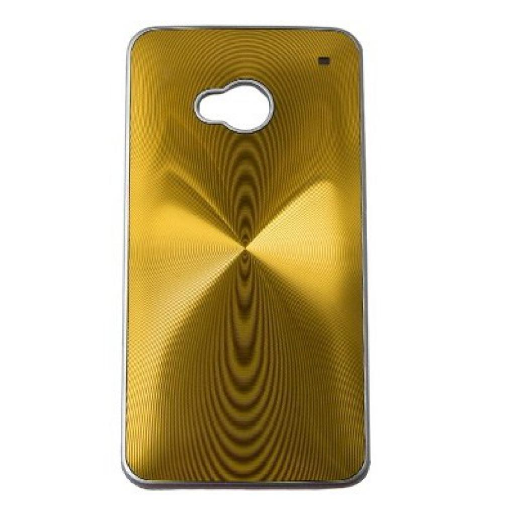 Чехол для моб. телефона Drobak для HTC One /Aluminium Panel Gold (218823)