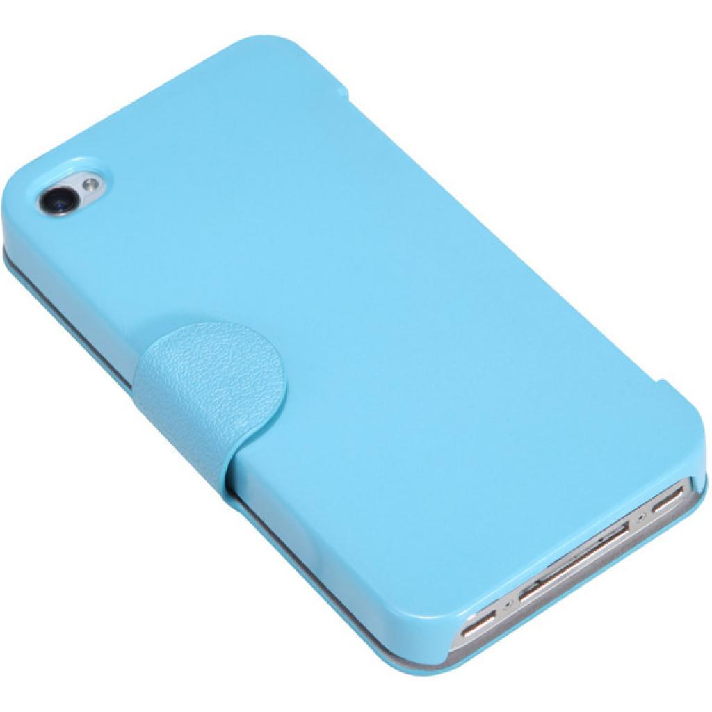 Чехол для моб. телефона NILLKIN для iPhone 4S /Fresh/ Leather/Blue (6065676) изображение 2