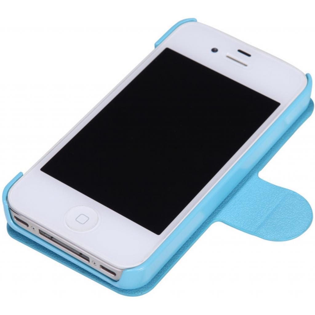 Чехол для моб. телефона NILLKIN для iPhone 4S /Fresh/ Leather/Blue (6065676) изображение 3