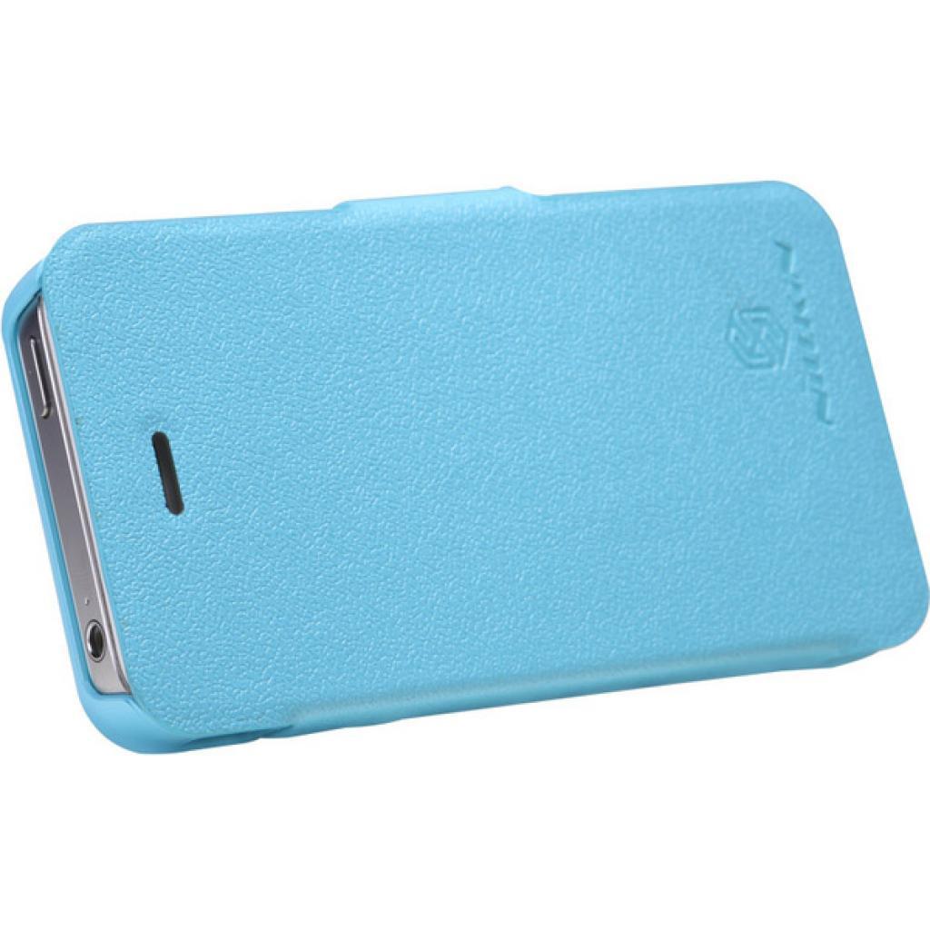 Чехол для моб. телефона NILLKIN для iPhone 4S /Fresh/ Leather/Blue (6065676) изображение 4
