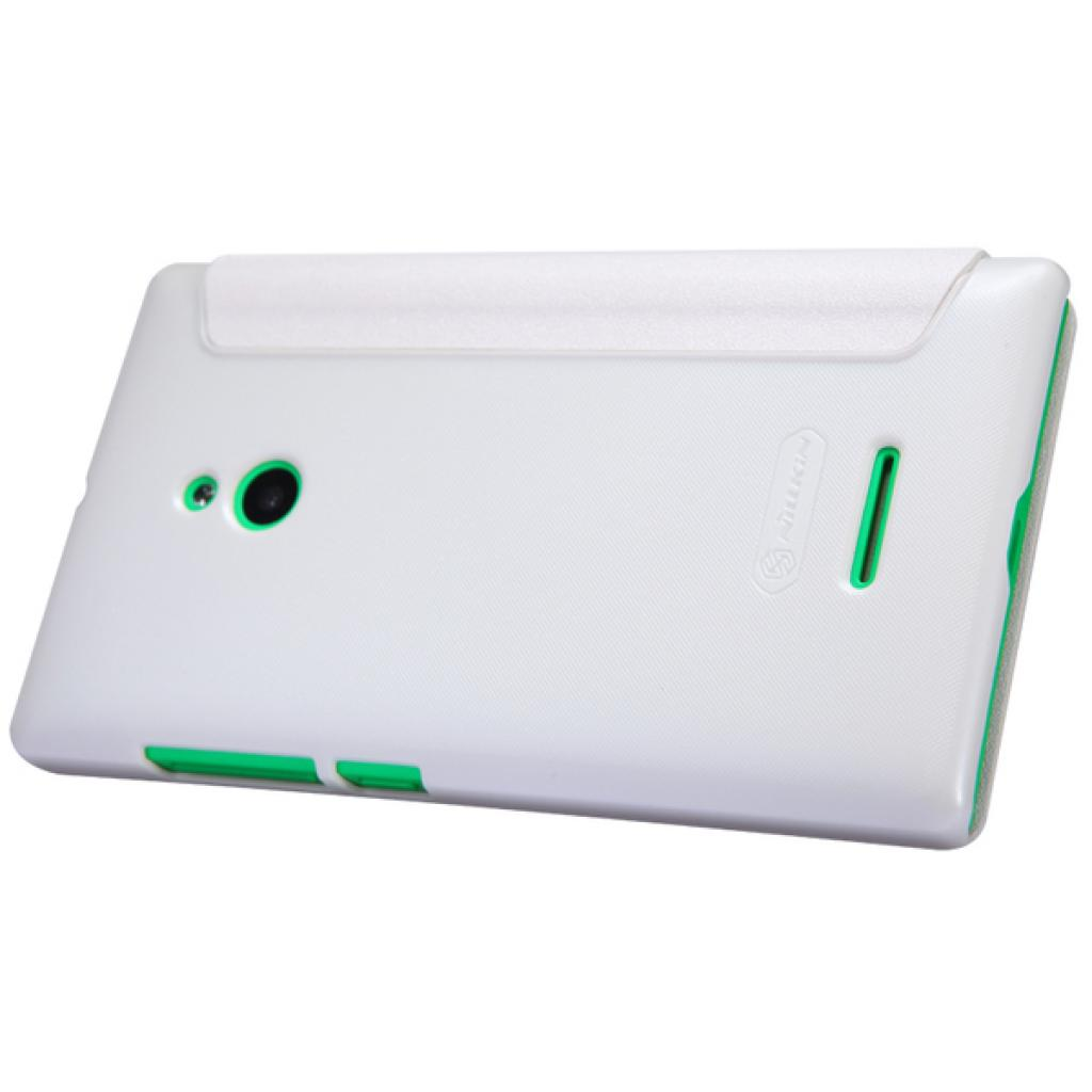 Чехол для моб. телефона NILLKIN для Nokia XL /Spark/ Leather/White (6164354) изображение 2