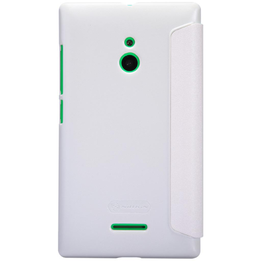 Чехол для моб. телефона NILLKIN для Nokia XL /Spark/ Leather/White (6164354) изображение 5