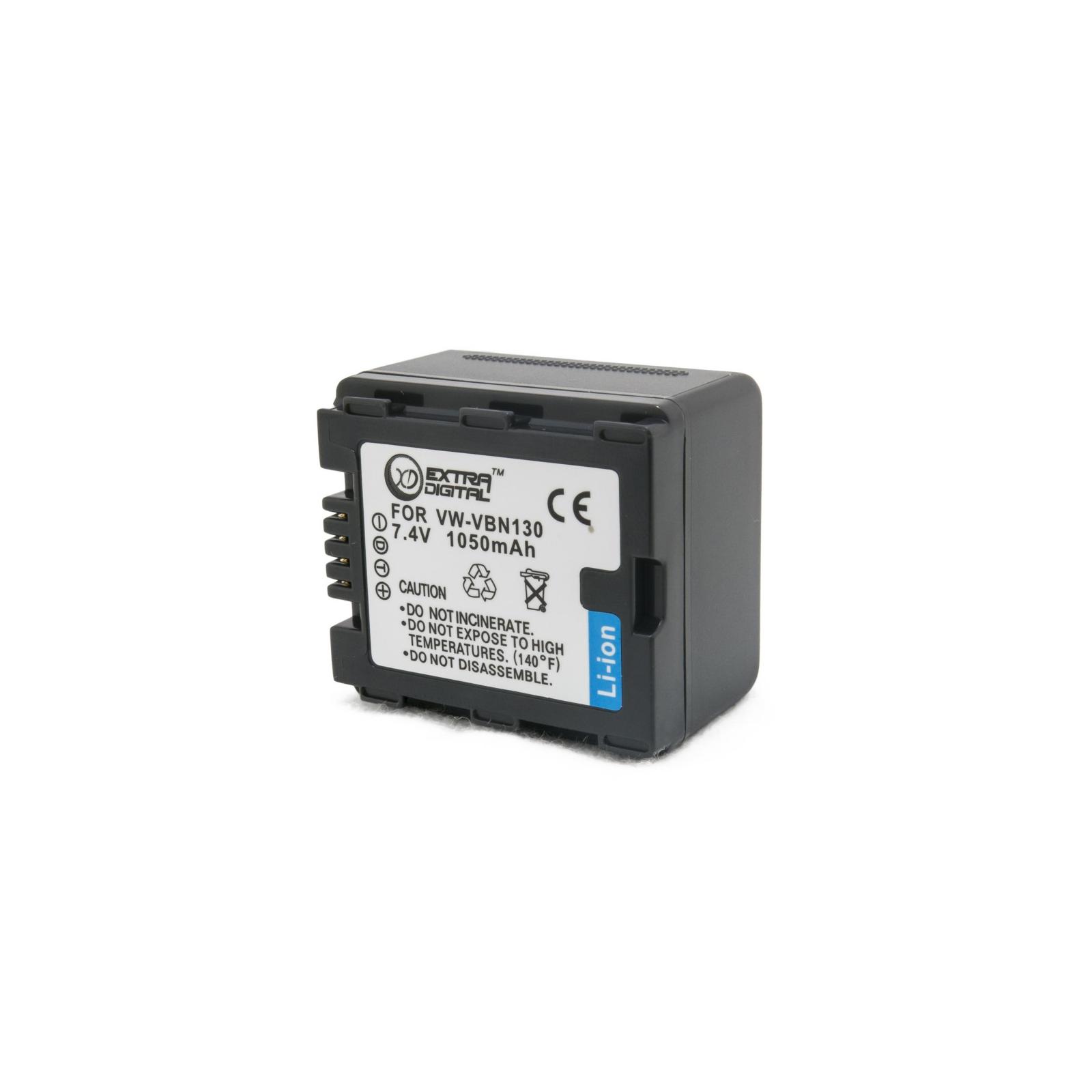 Аккумулятор к фото/видео EXTRADIGITAL Panasonic VW-VBN130 (DV00DV1361) изображение 2