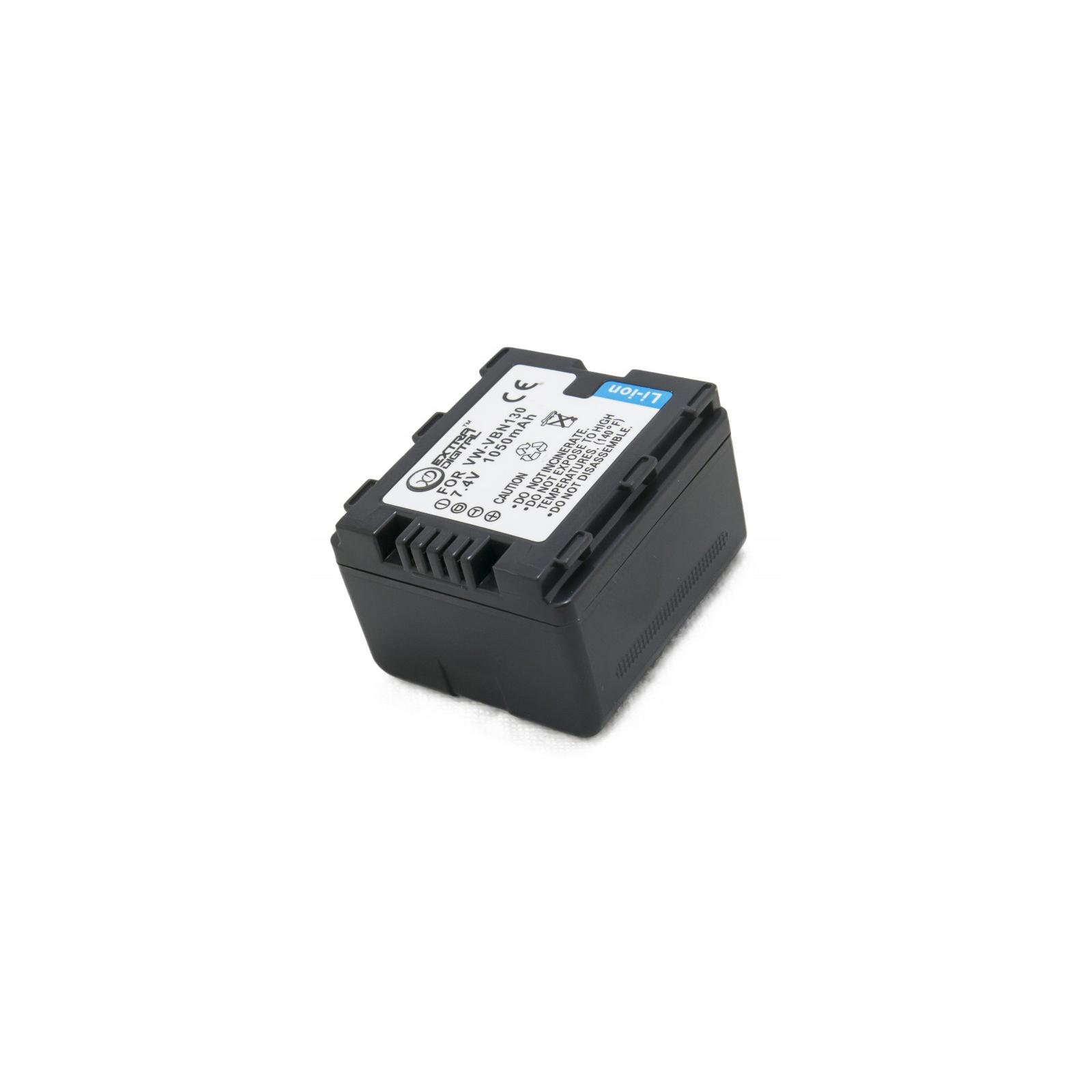 Аккумулятор к фото/видео EXTRADIGITAL Panasonic VW-VBN130 (DV00DV1361) изображение 4