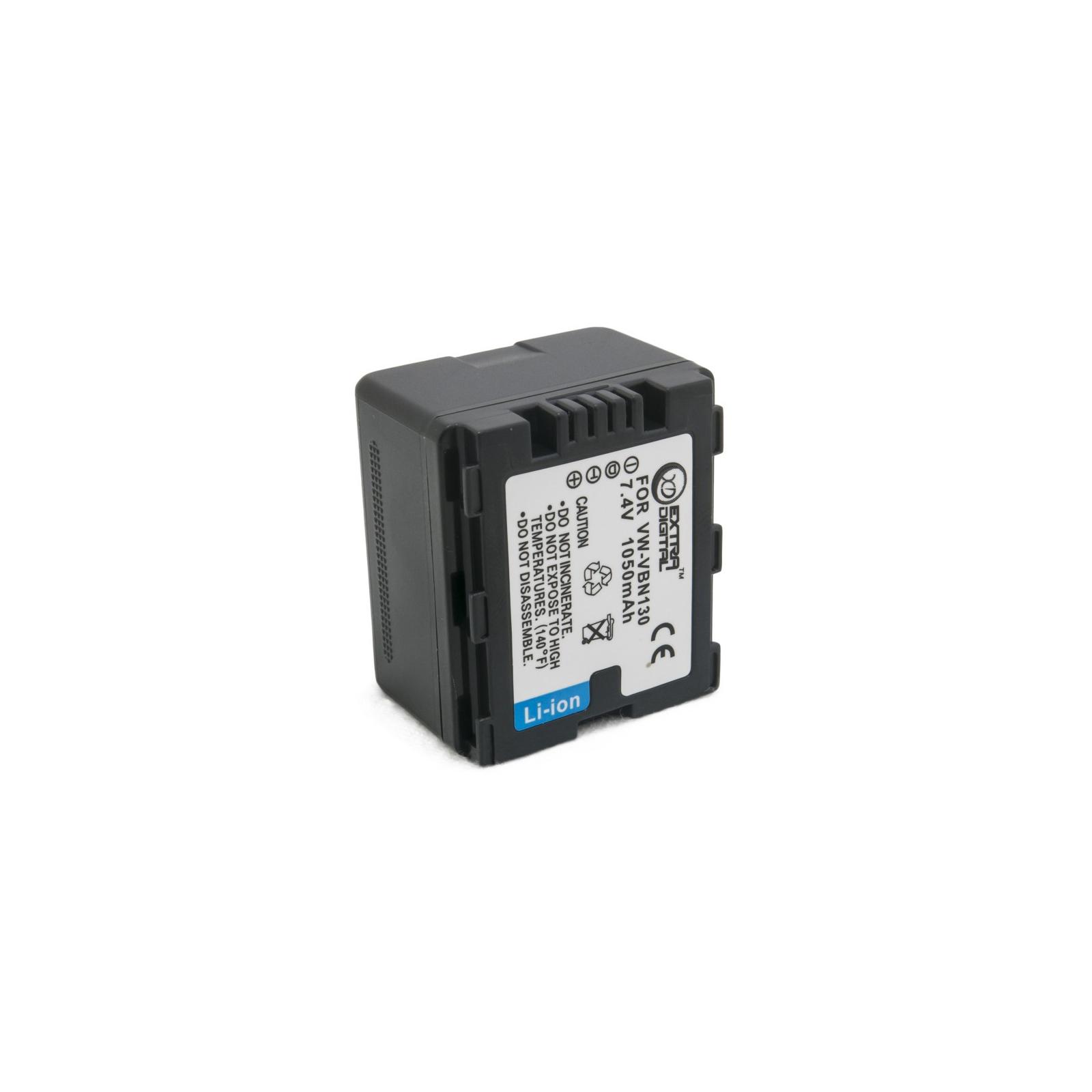Аккумулятор к фото/видео EXTRADIGITAL Panasonic VW-VBN130 (DV00DV1361) изображение 6