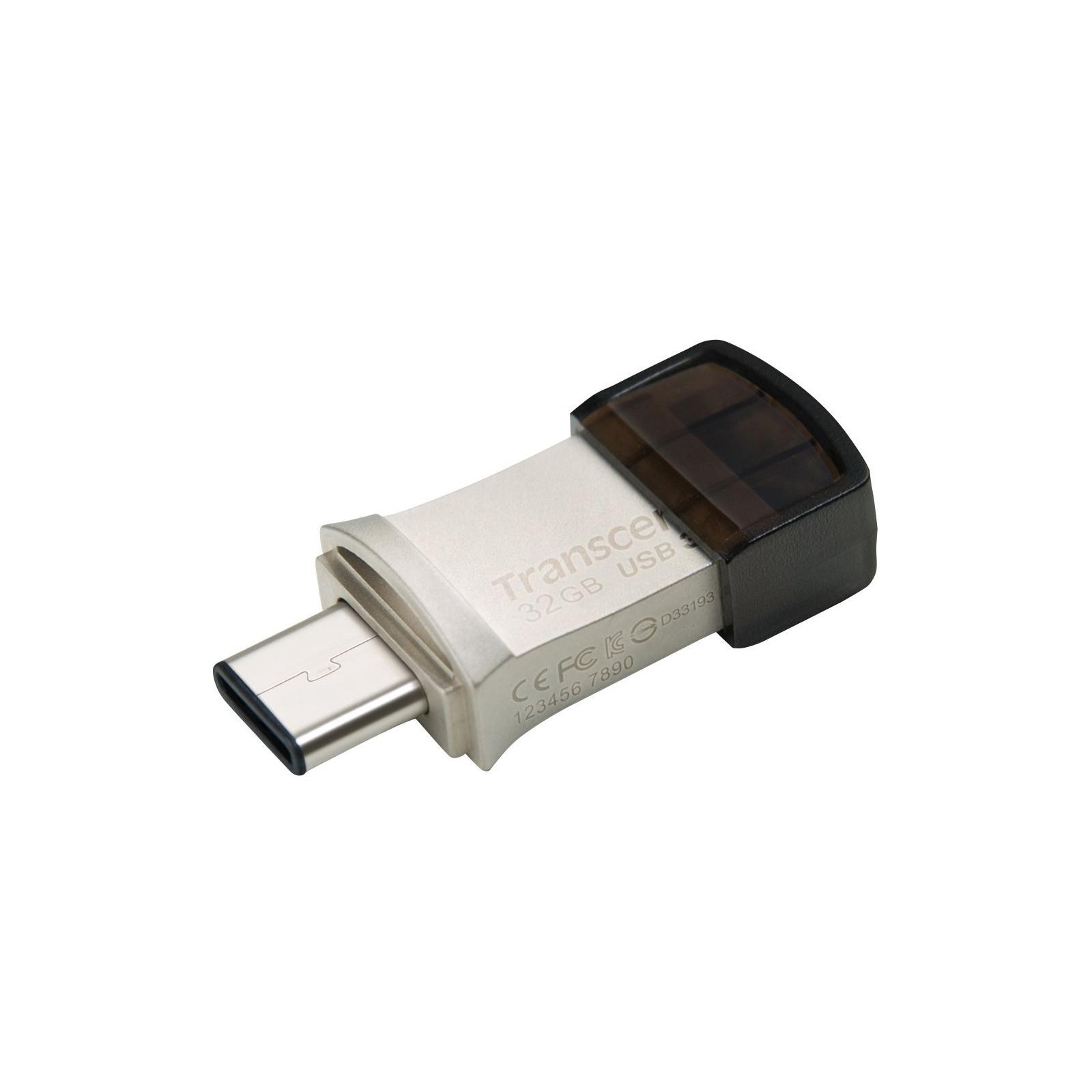 USB флеш накопитель Transcend 32GB JetFlash 890S Silver USB 3.1 (TS32GJF890S) изображение 3