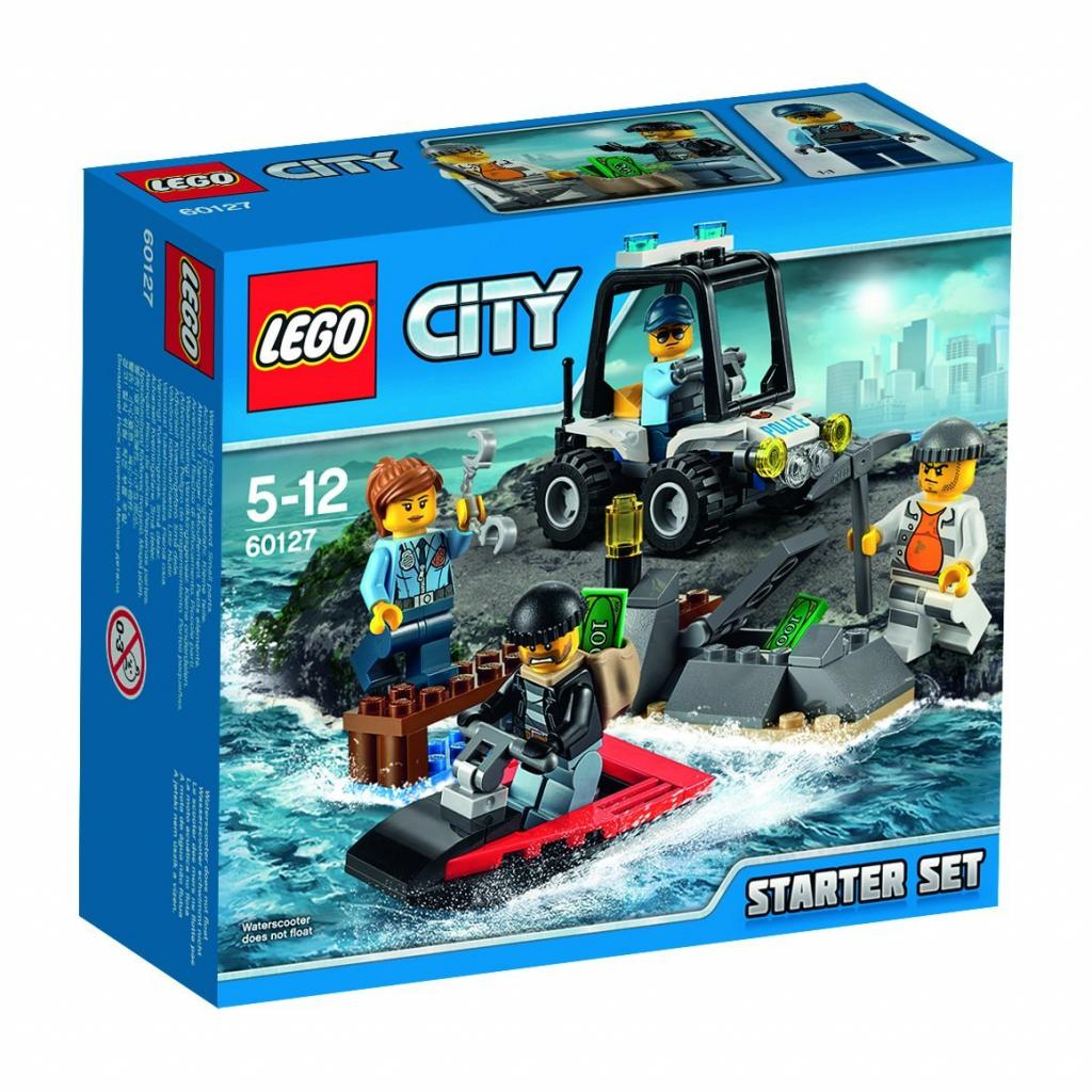 Конструктор LEGO City Police Набор для начинающих Остров-тюрьма (60127)