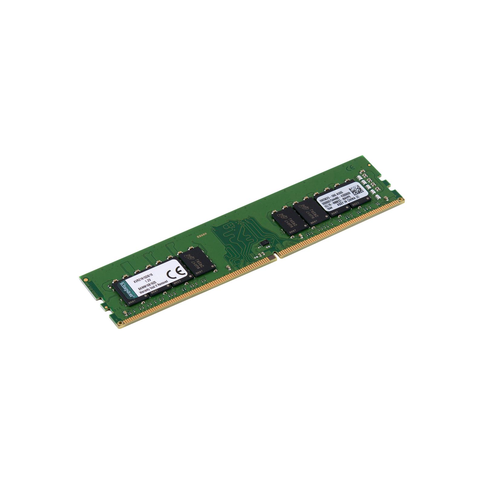 Модуль памяти для компьютера DDR4 16GB 2133 MHz Kingston (KVR21N15D8/16) изображение 2