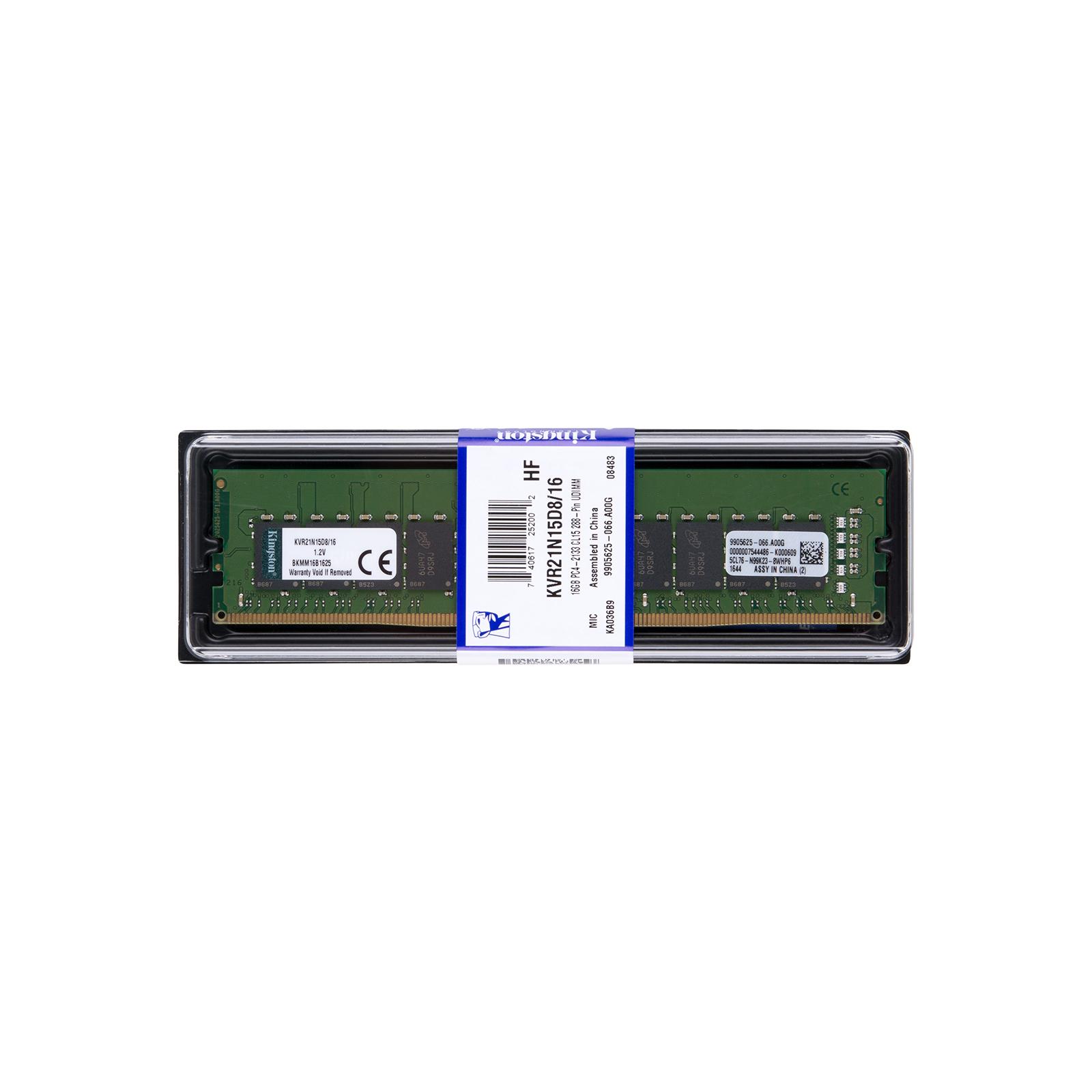 Модуль памяти для компьютера DDR4 16GB 2133 MHz Kingston (KVR21N15D8/16) изображение 5
