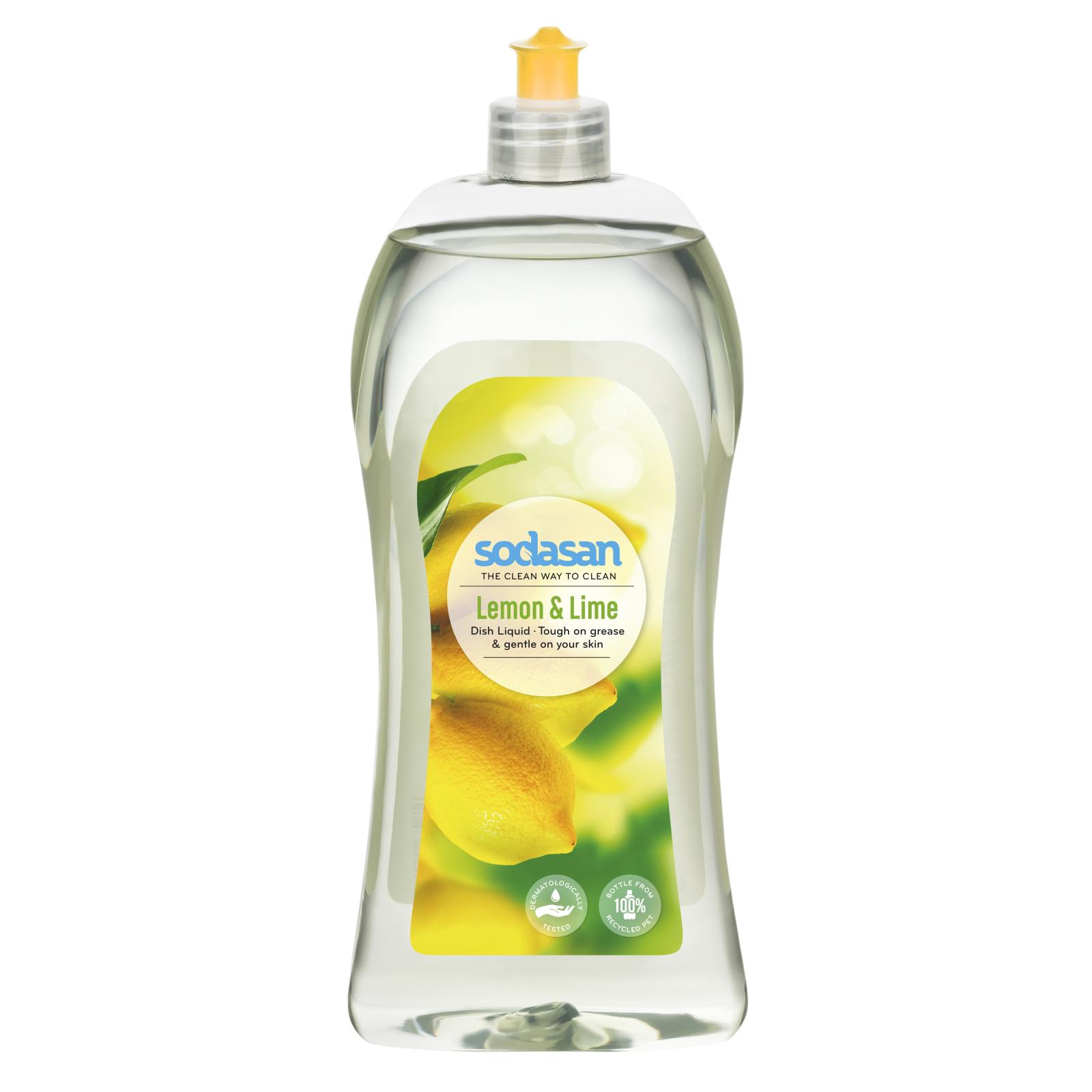 Средство для мытья посуды Sodasan органическое Лимон 1 л (4019886000208)