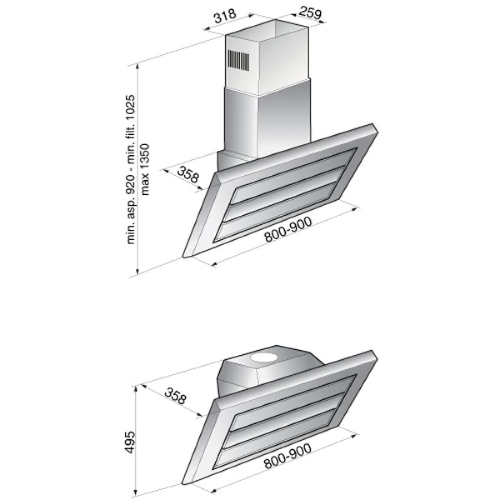 Вытяжка кухонная Zirtal KOALA изображение 2