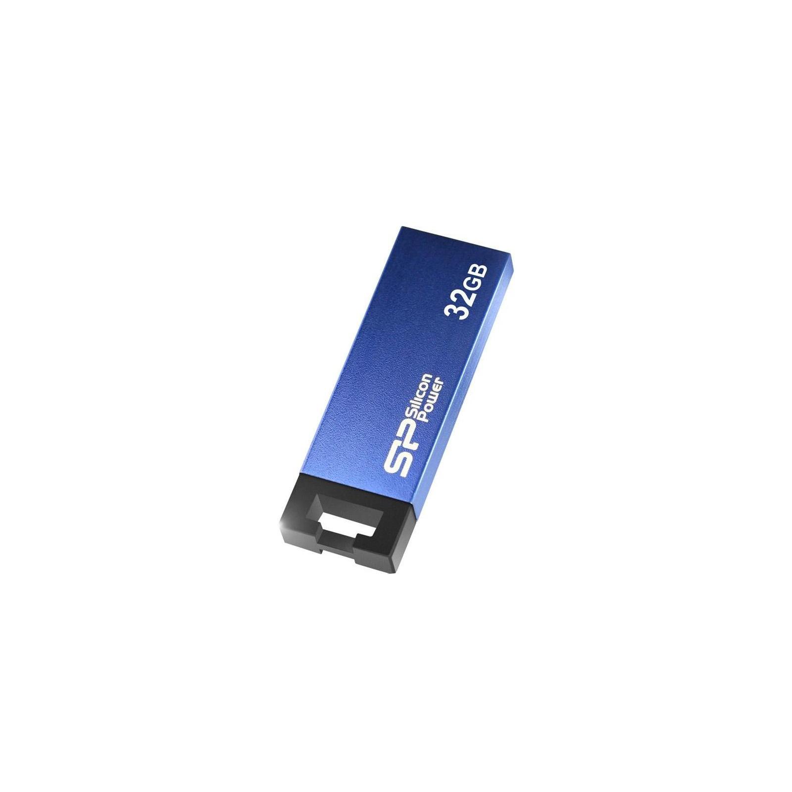 USB флеш накопитель Silicon Power 32GB 835 Blue USB 2.0 (SP032GBUF2835V1B) изображение 3