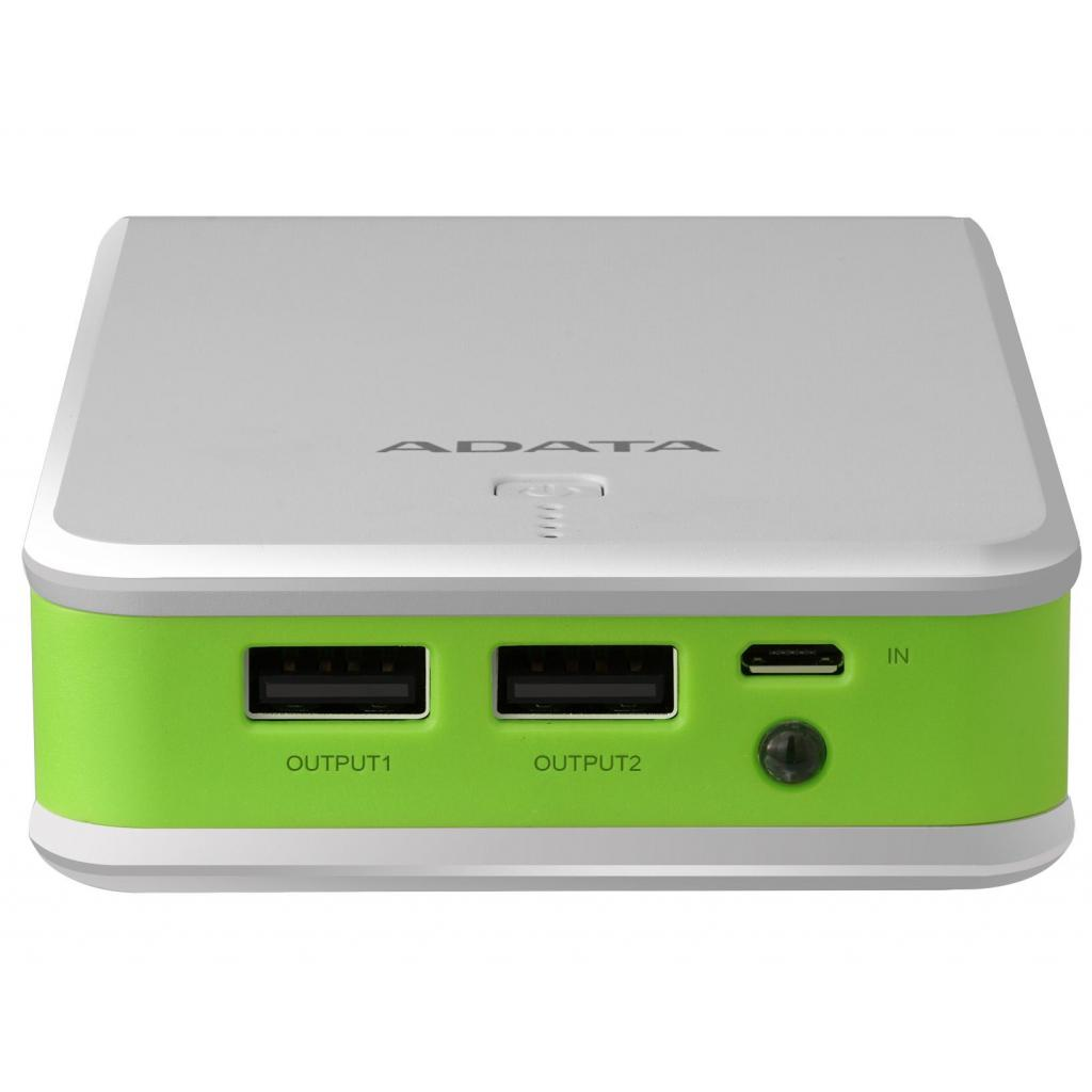 Батарея универсальная ADATA P16750 16750mAh White-Green (AP16750-5V-CWHGN) изображение 4