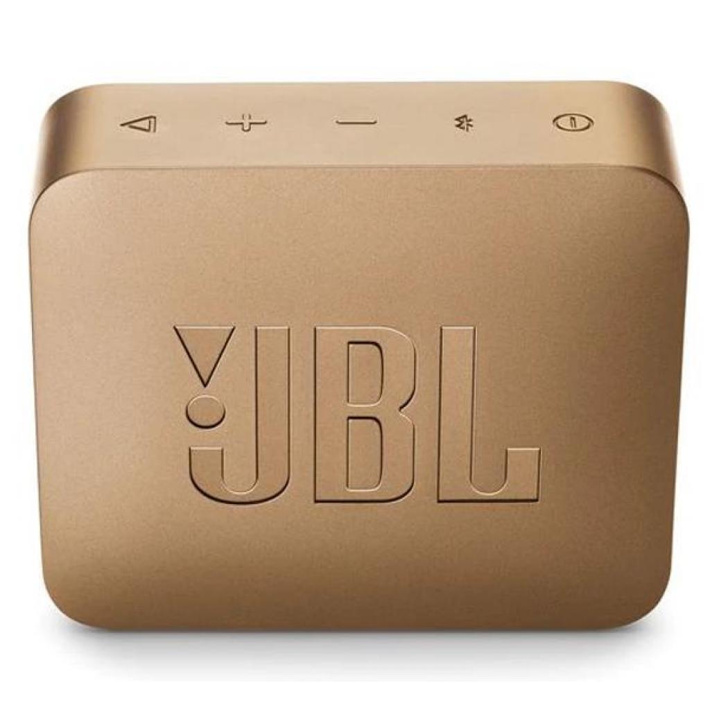 Акустическая система JBL GO 2 Champagne (JBLGO2CHAMPAGNE) изображение 2