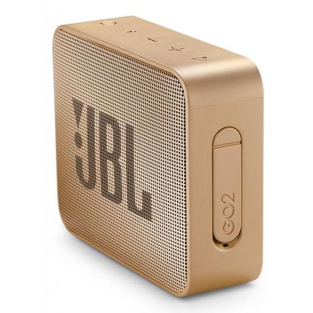 Акустическая система JBL GO 2 Champagne (JBLGO2CHAMPAGNE) изображение 3