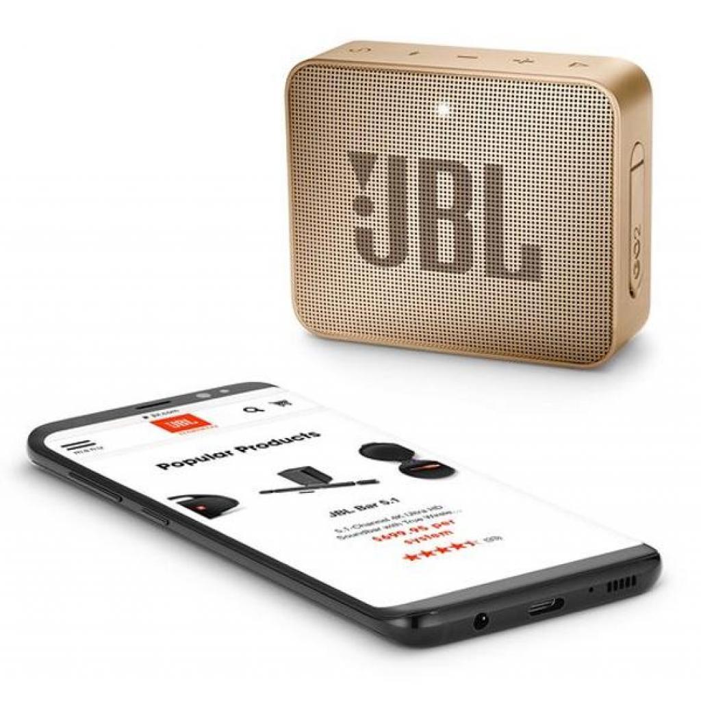 Акустическая система JBL GO 2 Champagne (JBLGO2CHAMPAGNE) изображение 6