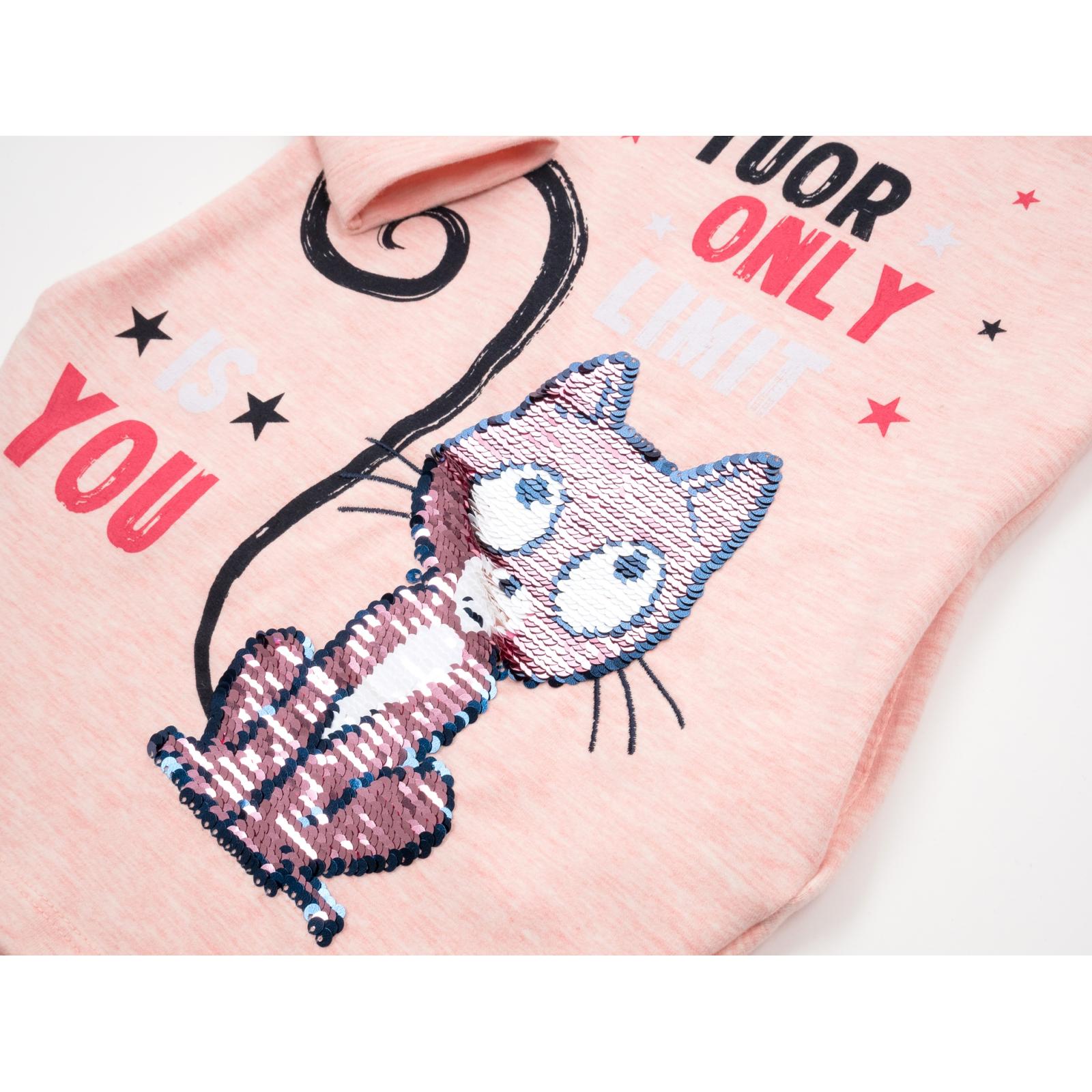 Платье Breeze с котиком перевертышем (12658-116G-peach) изображение 4