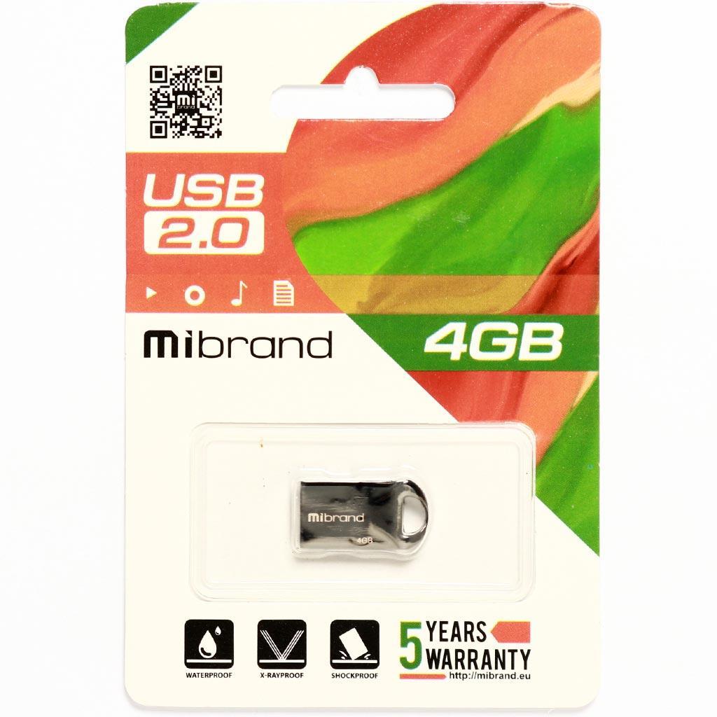 USB флеш накопитель Mibrand 32GB Hawk Black USB 2.0 (MI2.0/HA32M1B) изображение 2