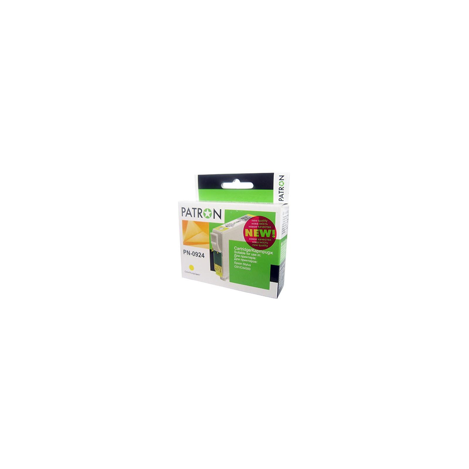 Картридж PATRON для EPSON C91/T26/27/TX106 yellow (CI-EPS-T09244A-Y2-PN) изображение 2