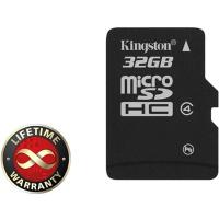 Карта памяти 32Gb microSDHC class 4 Kingston (SDC4/32GBSP)