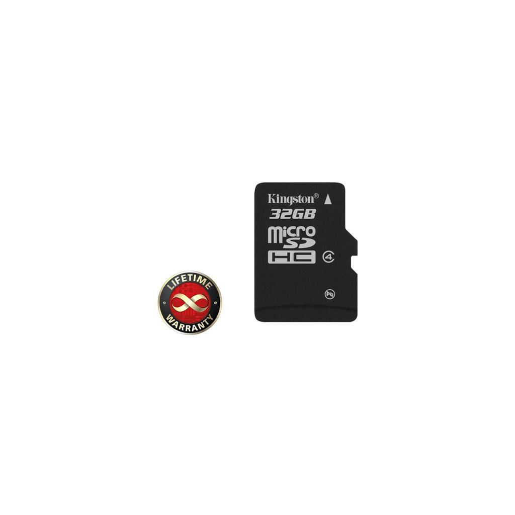 Карта памяти Kingston 32Gb microSDHC class 4 (SDC4/32GBSP)