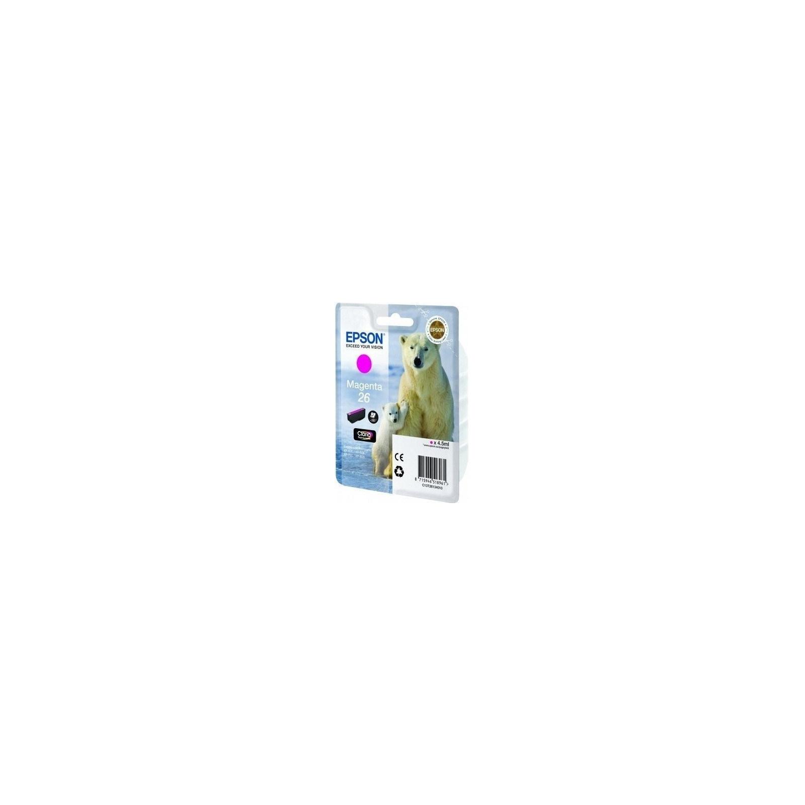 Картридж EPSON 26 XP600/605/700 magenta (C13T26134010)