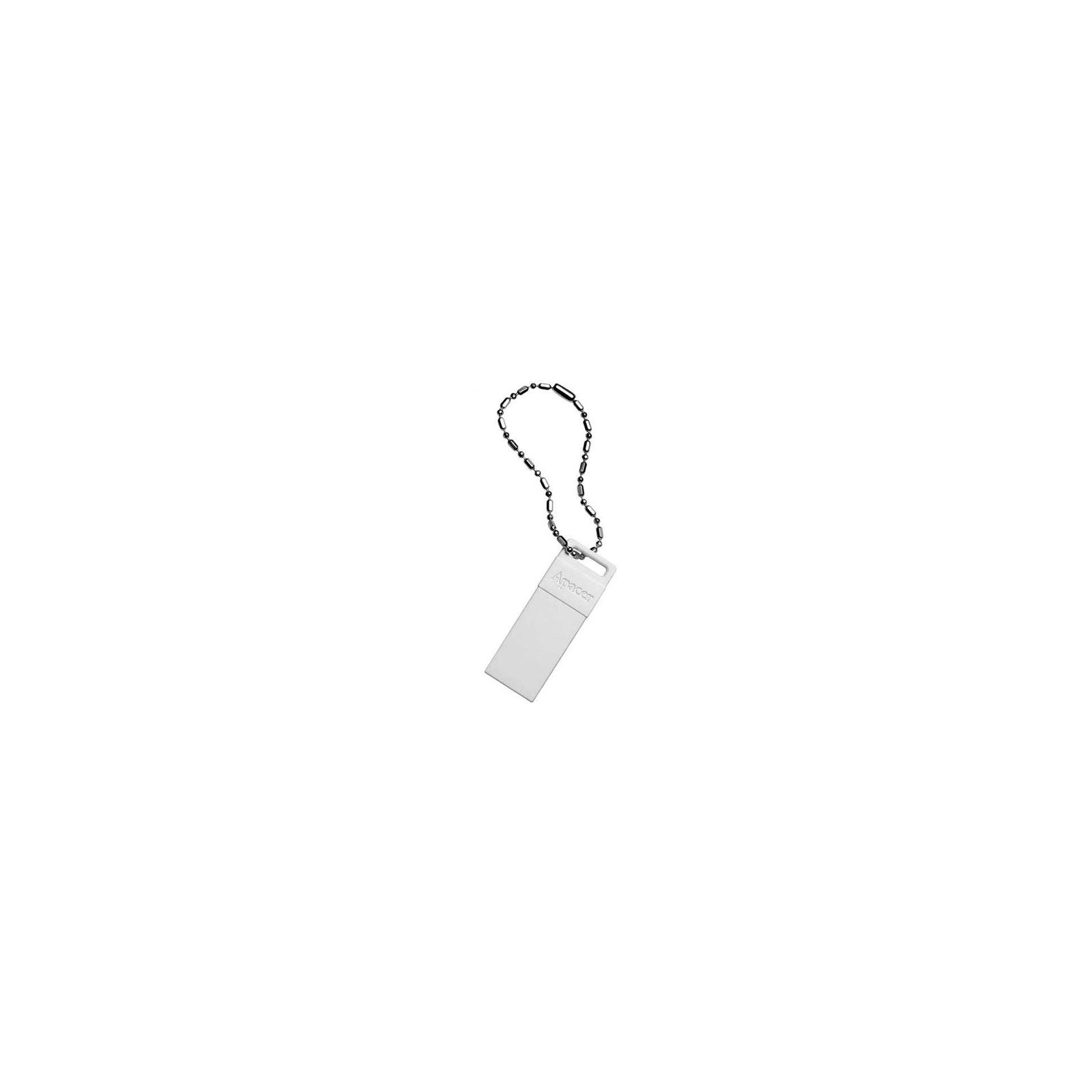 USB флеш накопитель 8GB AH110 White RP USB2.0 Apacer (AP8GAH110W-1) изображение 2