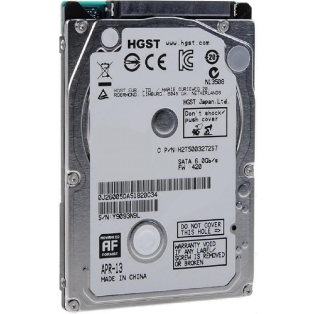 """Жесткий диск для ноутбука 2.5"""" 750GB Hitachi HGST (0J42312 / 0J36212 / HTS541075A7E630)"""