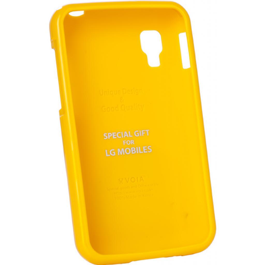 Чехол для моб. телефона VOIA для LG E445 Optimus L4II Dual /Jelly/Yellow (6068194)