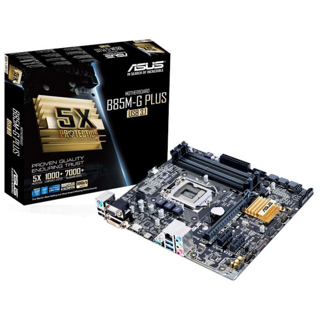 Материнская плата ASUS B85M-G PLUS/USB 3.1