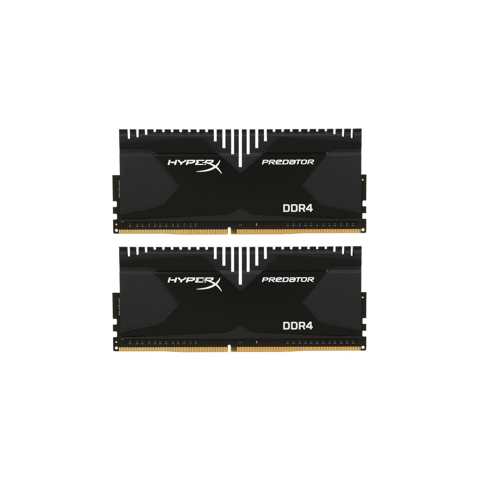 Модуль памяти для компьютера DDR4 32GB (2x16GB) 3000 MHz HyperX Predator Kingston (HX430C16PBK2/32)