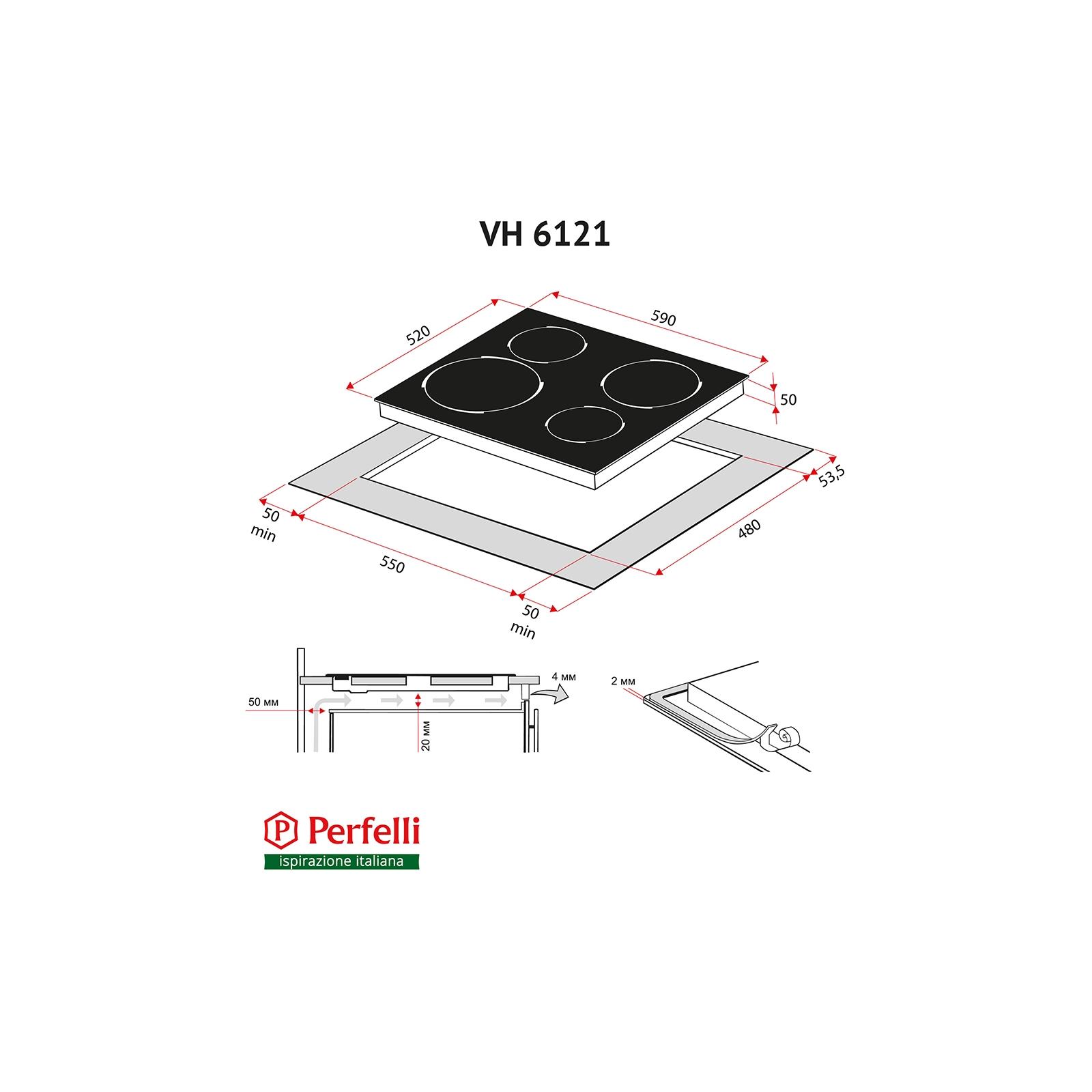 Варочная поверхность PERFELLI VH 6121 BL изображение 8