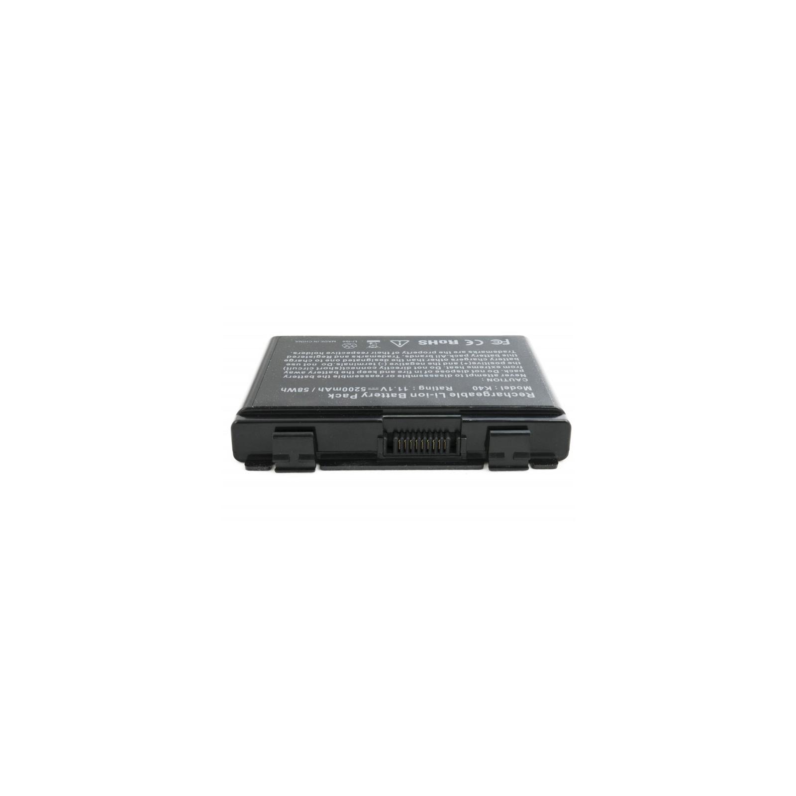 Аккумулятор для ноутбука Asus K40 (A32-F82) 5200 mAh EXTRADIGITAL (BNA3927) изображение 3