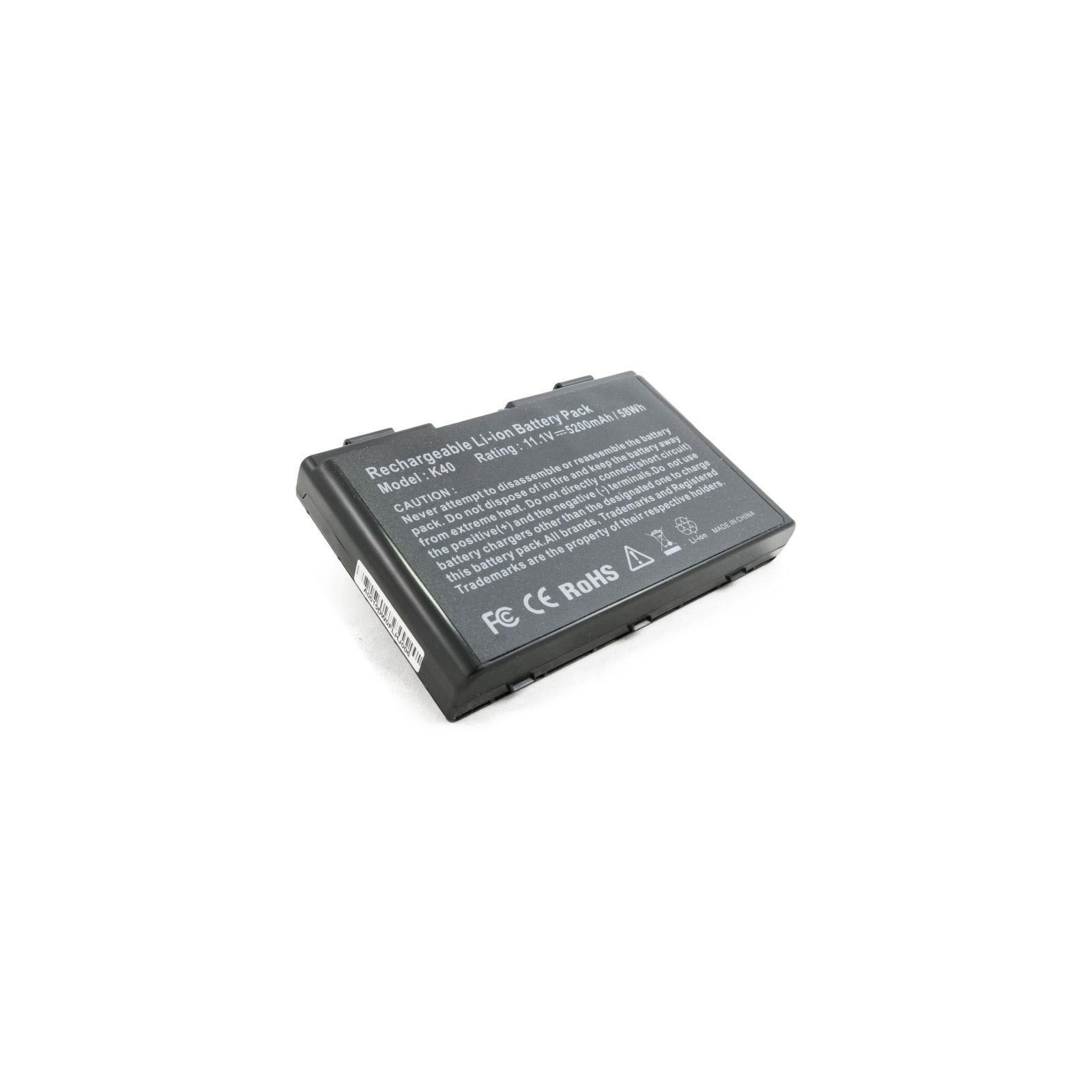 Аккумулятор для ноутбука Asus K40 (A32-F82) 5200 mAh EXTRADIGITAL (BNA3927) изображение 6