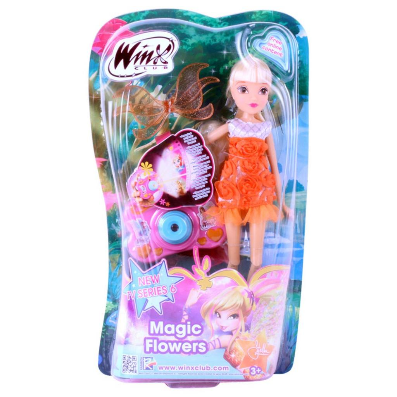 Кукла WinX Волшебные цветы Стелла 27 см (IW01021403)