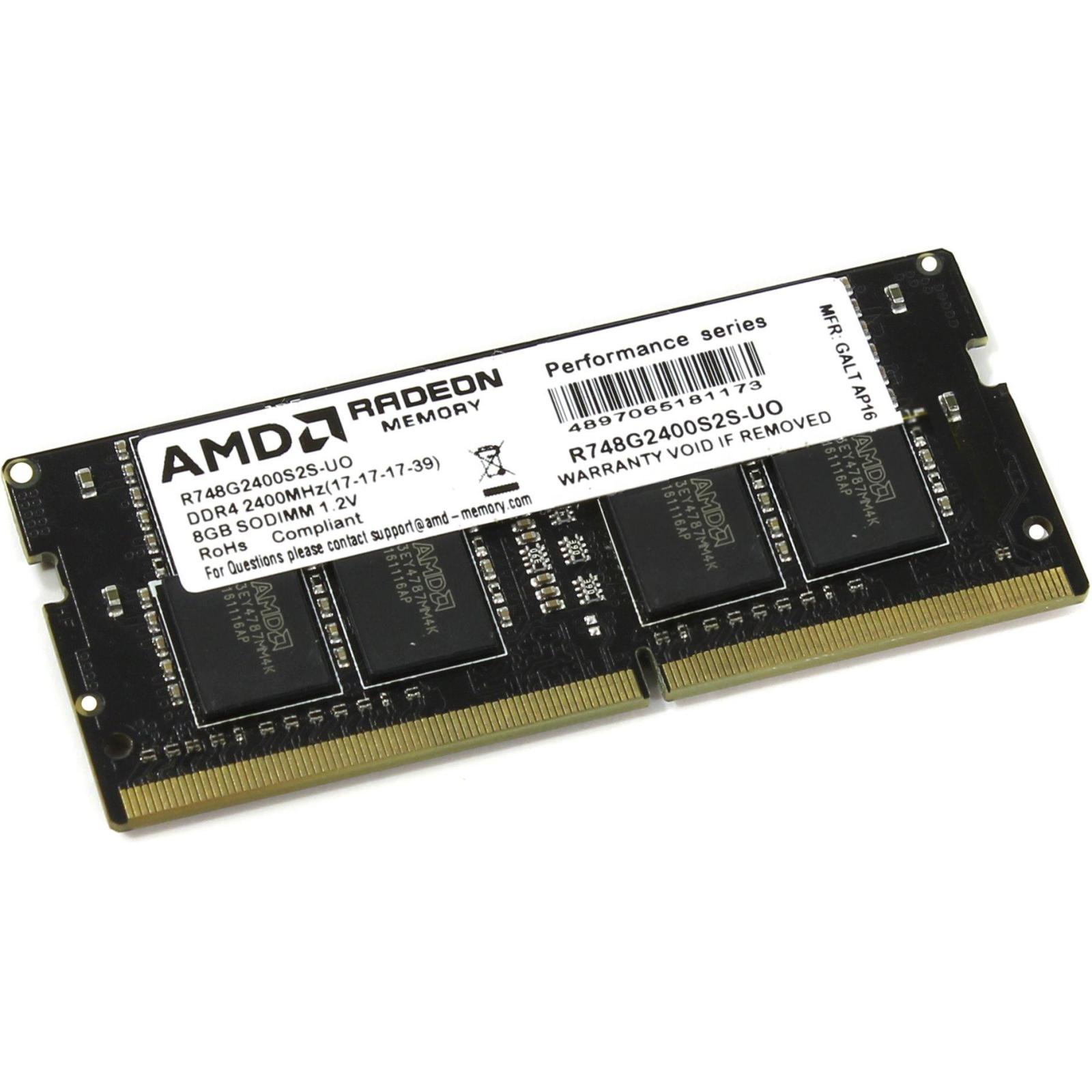 Модуль памяти для ноутбука SoDIMM DDR4 8GB 2400 MHz Radeon AMD (R748G2400S2S-UO)
