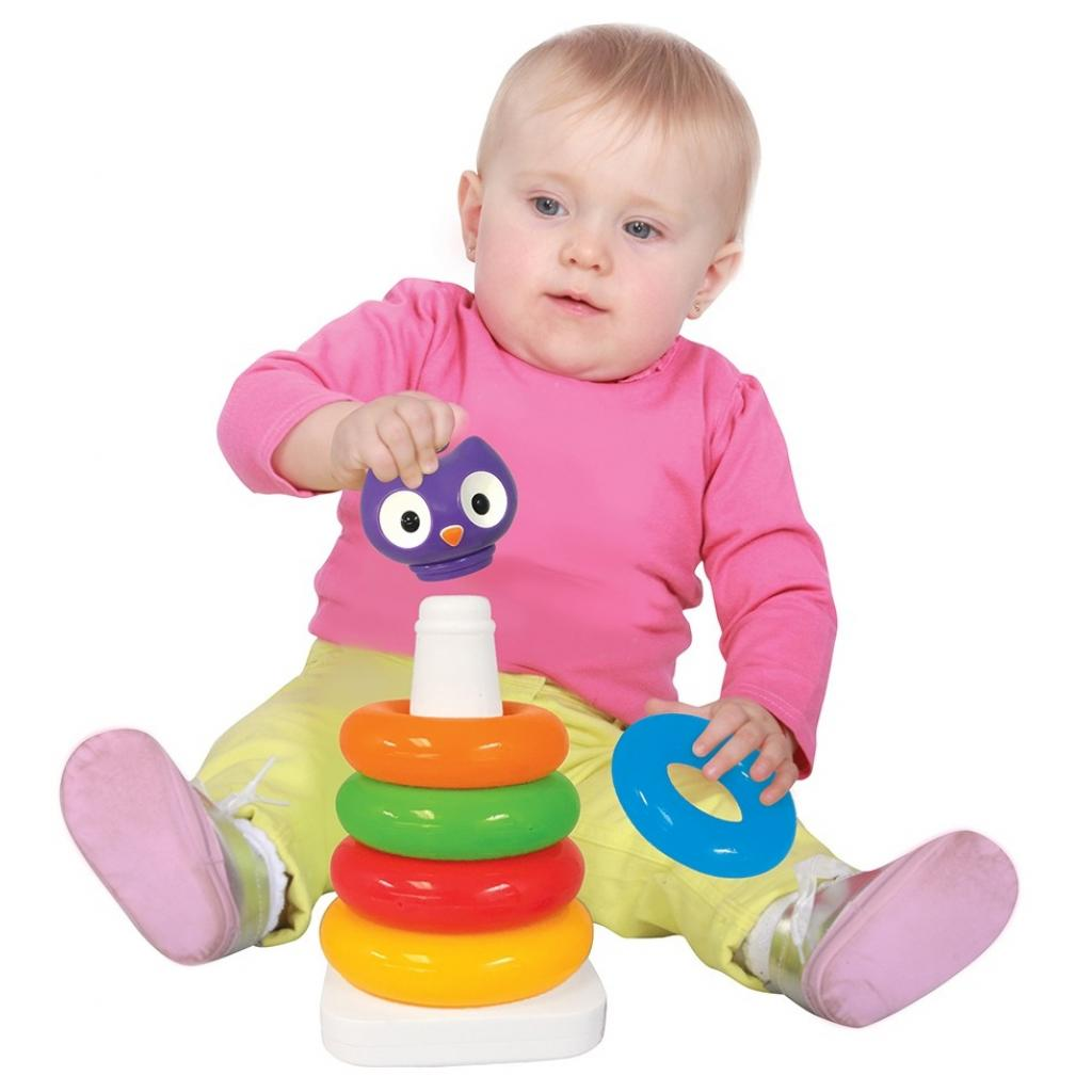 Развивающая игрушка Kiddieland Сова Пирамидка (057901) изображение 2