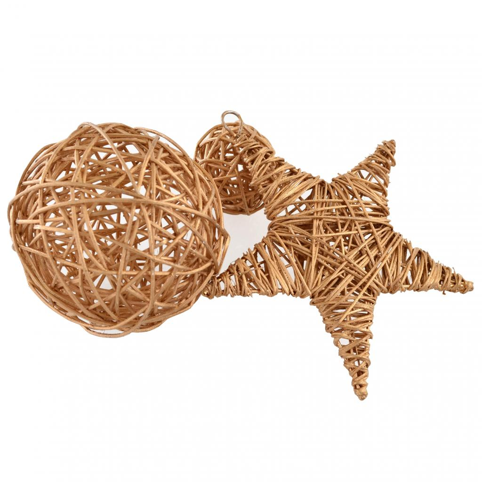 Украшение декоративное YES! Fun Звезда ротанговая золотая, 15 см (973302) изображение 2