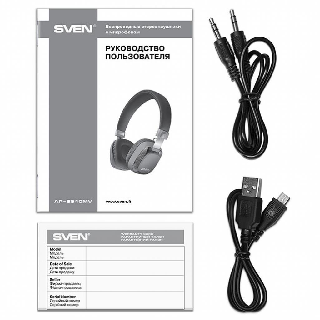 Наушники Sven AP-B510MV Black Bluetooth (AP-B510MV black) изображение 7