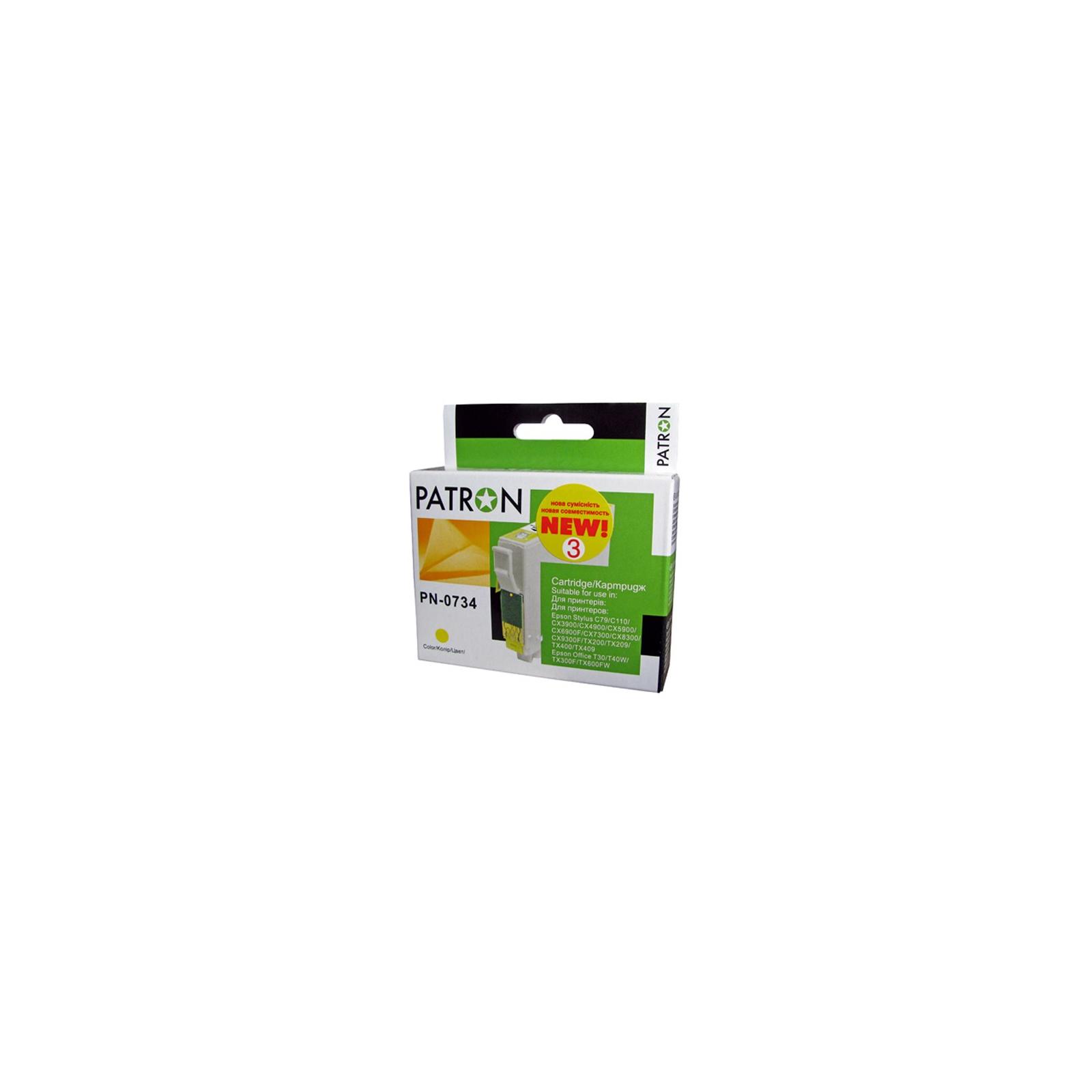 Картридж PATRON для EPSON C79/C110/TX200 yellow (CI-EPS-T07344-Y3-PN) изображение 2