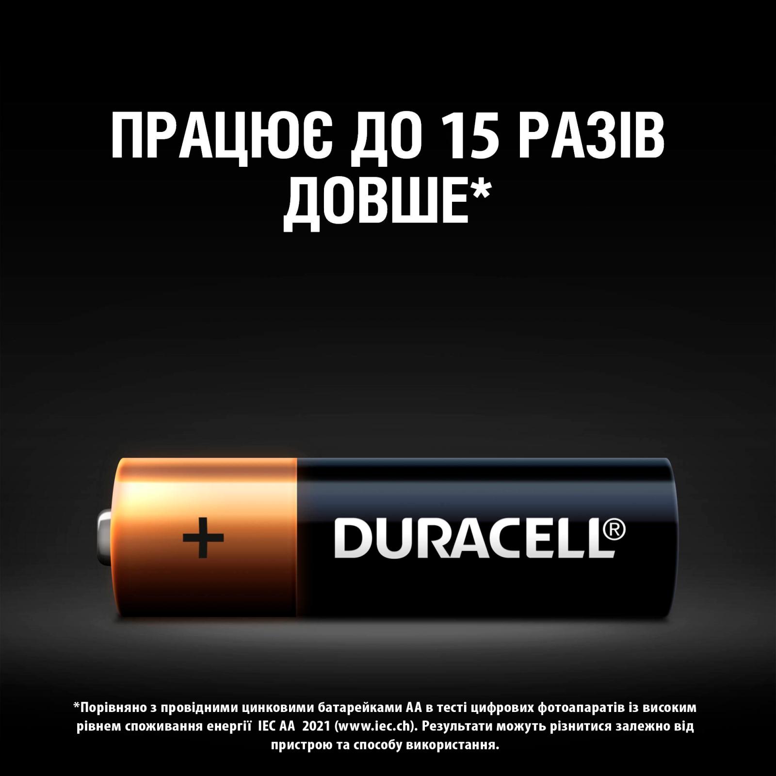 Батарейка Duracell AA MN1500 LR06 * 2 (5000394058163 / 81551267) изображение 4