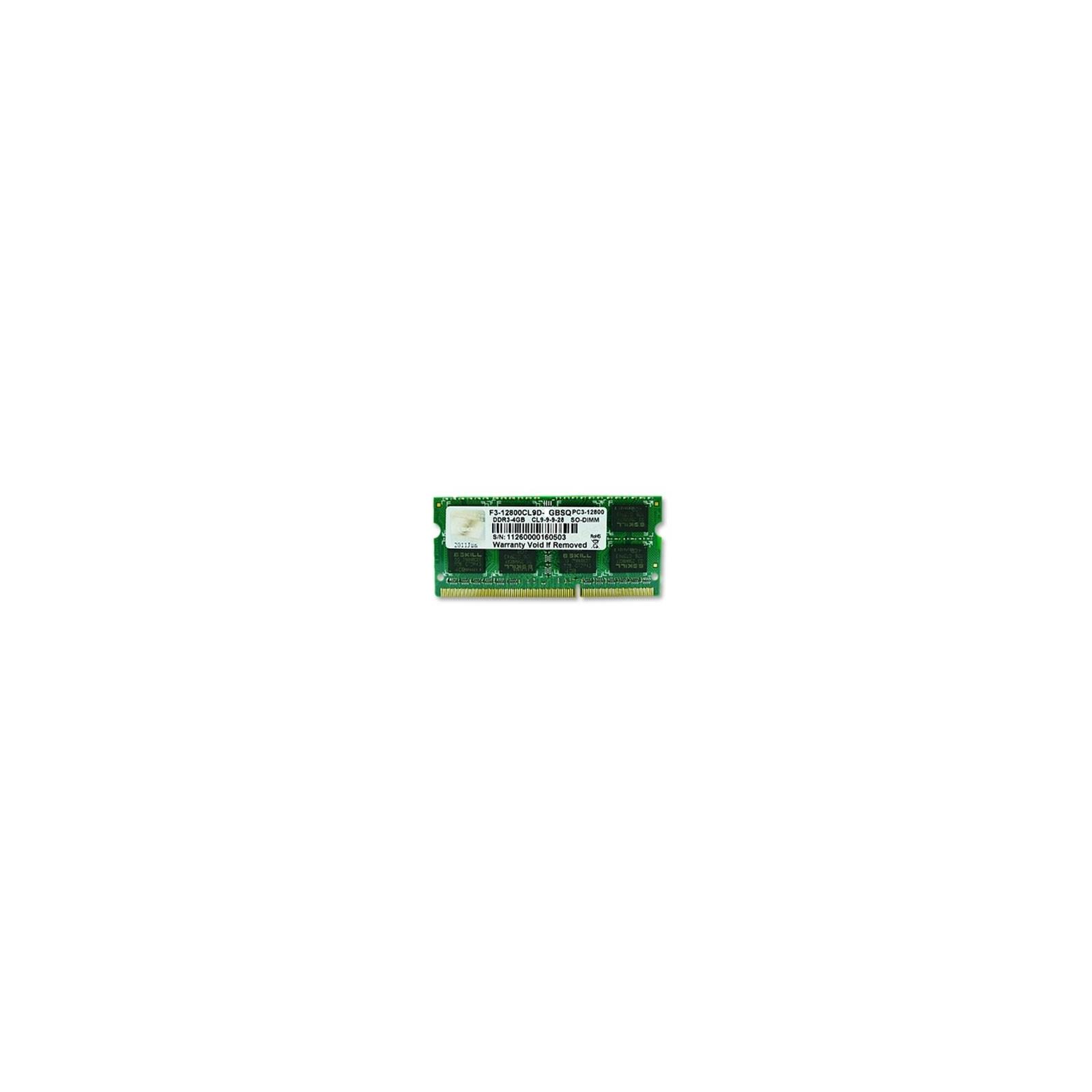 Модуль памяти для ноутбука SoDIMM DDR3 4GB 1600 MHz G.Skill (F3-12800CL9S-4GBSQ)