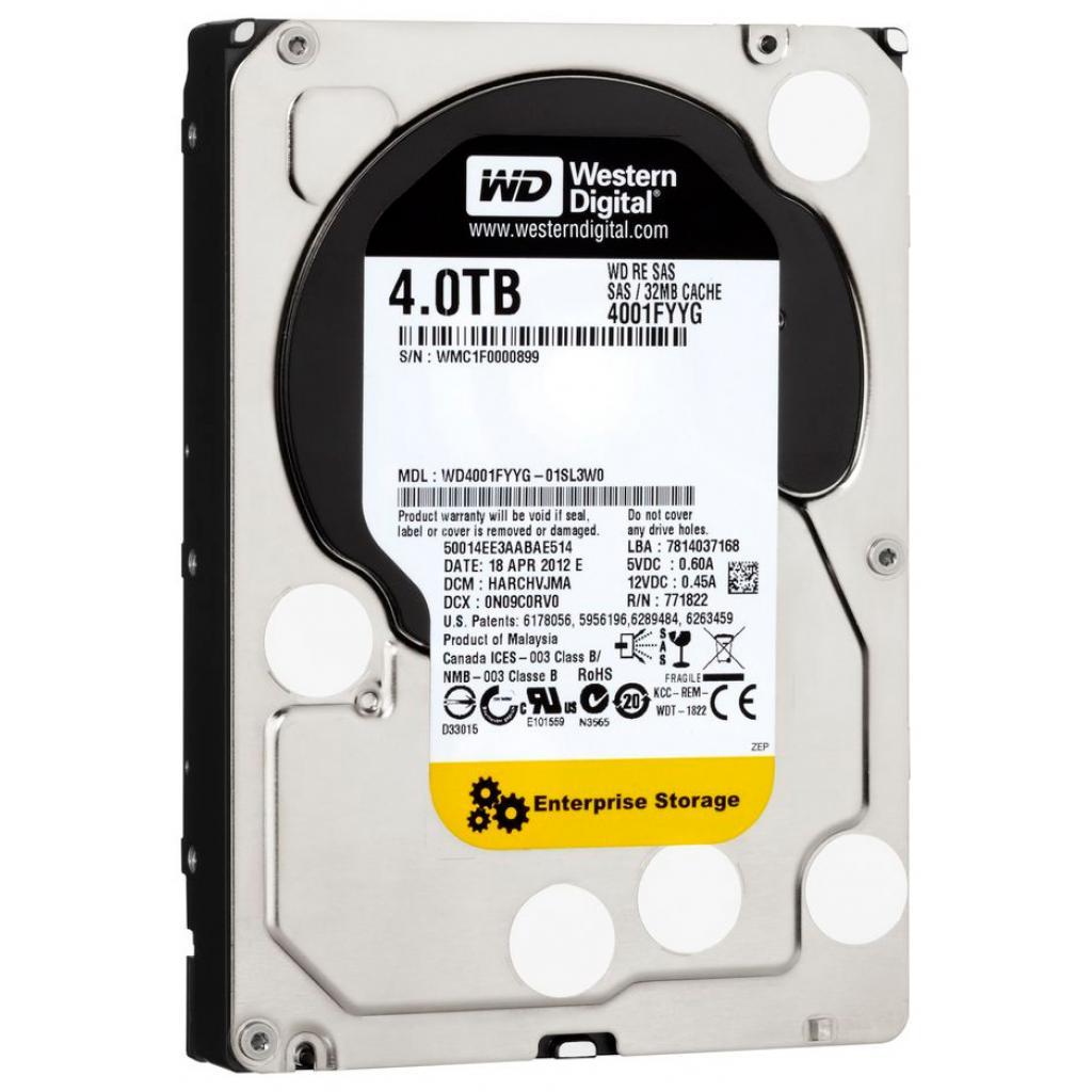 Жесткий диск для сервера 4TB Western Digital (WD4001FYYG) изображение 2