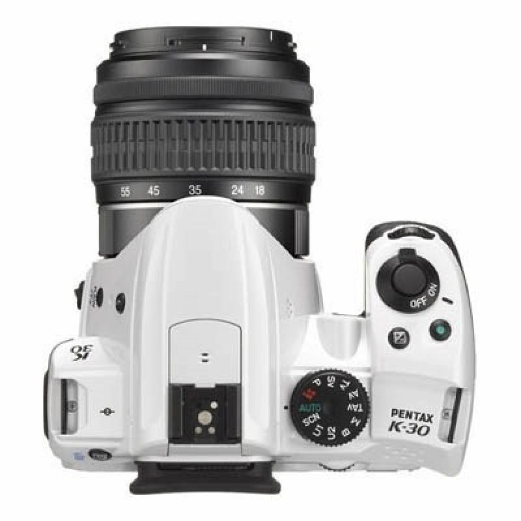 Цифровой фотоаппарат Pentax K-30 white + DA 18-55mm WR (15723) изображение 3
