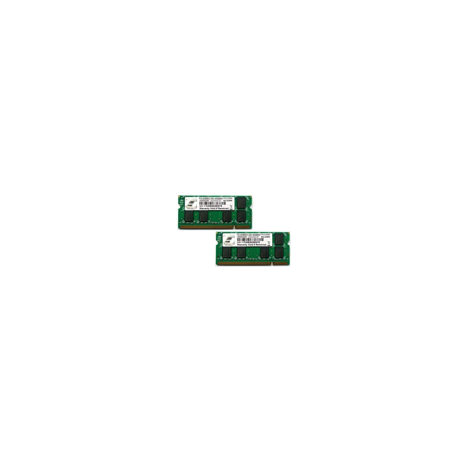 Модуль памяти для ноутбука SoDIMM DDR2 2GB(2x1GB) 800 MHz G.Skill (F2-6400CL5D-2GBSA)
