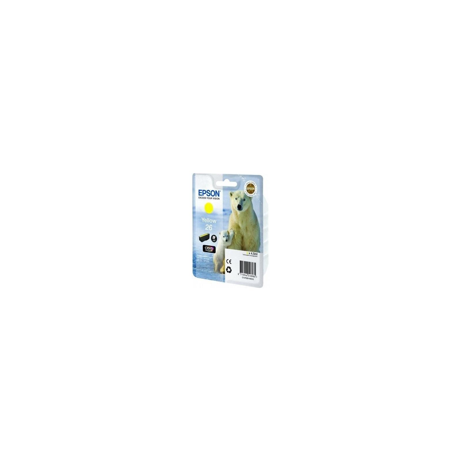Картридж EPSON 26 XP600/605/700 yellow (C13T26144010)